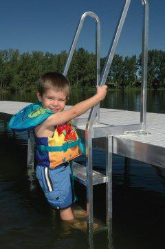 Pier Pleasure Dock Ladder adds more recreation to your dock.