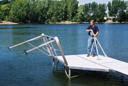 Pier Pleasure Tripod Winch - Easily remove your dock easily without getting in the water!