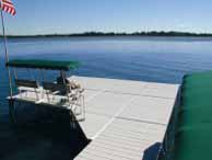 Adding a Corner Section increases the dock area.