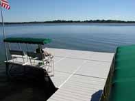Pier Pleasure Sectional Dock Platform with a vinyl surface