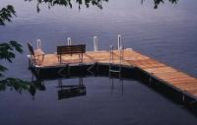 Pier Pleasure Sectional Dock with a Cedar Dock surface